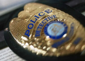 Photo of a police badge