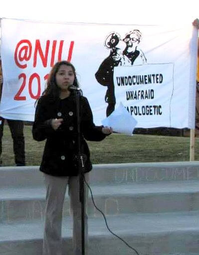 Speaking out on behalf of studens who ae undocumented citizens.