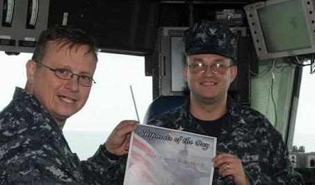 Warren during his service on the Uss Iwo Jima.