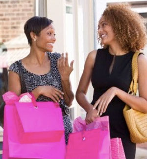 of female friends shopping