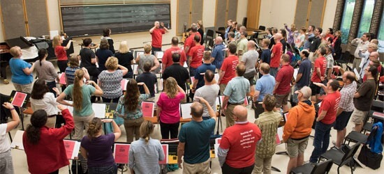 Eighty music teachers attended the IL-CMP workshop at NIU.