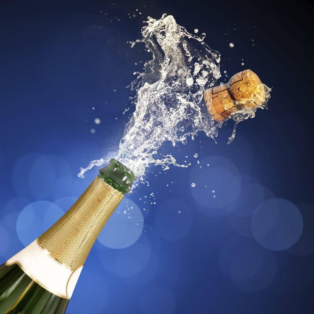 Champagne Popping Bottle