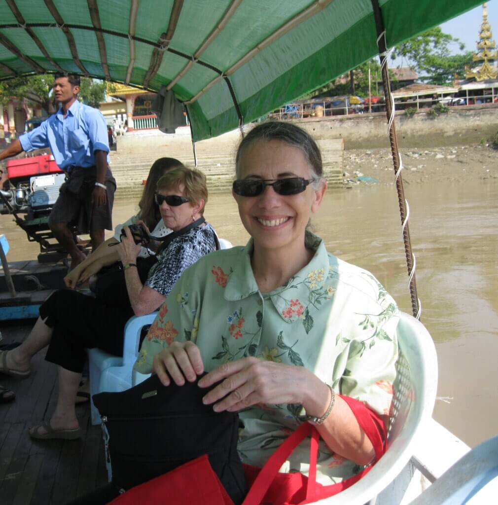 Amy Levin in Myanmar in 2013.