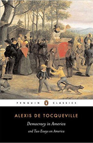 "Book cover of Alexis de Tocqueville's ""Democracy in America"""