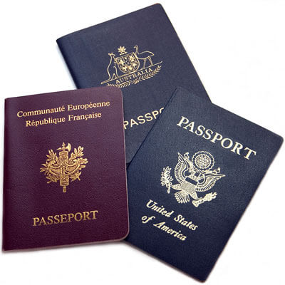 Photo of three passports