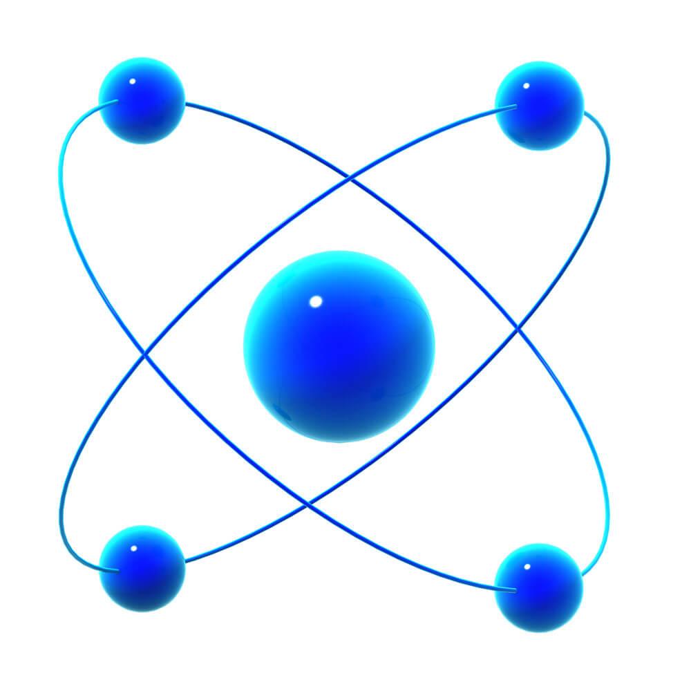 3d Atomic particle