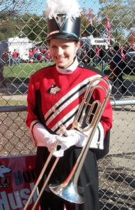 "The NIU Marching Band was ""one of the best parts of my college experience,"" Rasmussen says."