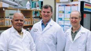 Professors Rangaswamy Meganathan, Timothy Hagen, and James Horn
