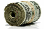 Photo of a roll of money