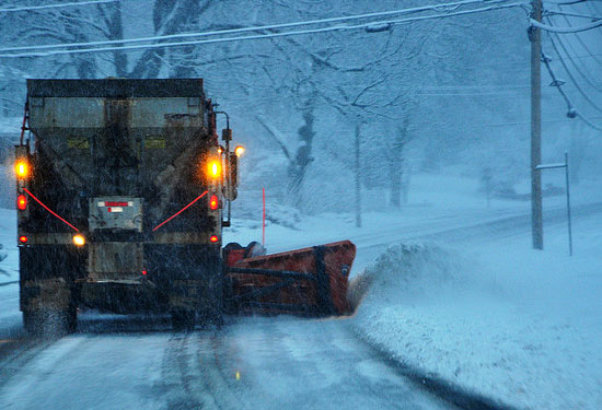 Photo of a snowplow