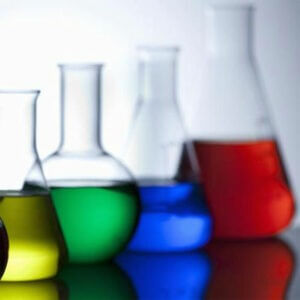 A photo of chemistry beakers