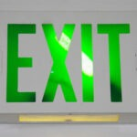 Photo of an EXIT sign