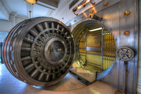 Photo of a bank vault