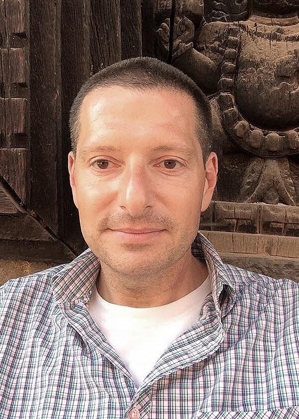 NIU Professor Mark Rosenbaum at the Shaligram Hotel two weeks before the earthquake