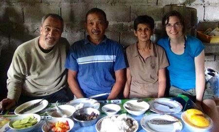 Katharine Wiegele with fisherfolk in Batangas, Philippines.