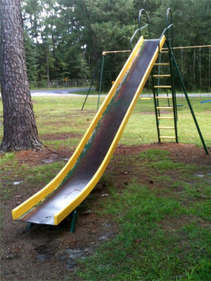 Photo of a playground slide