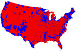 Presidential voting map