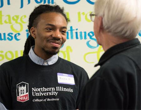 NIU student Randiss Hopkins